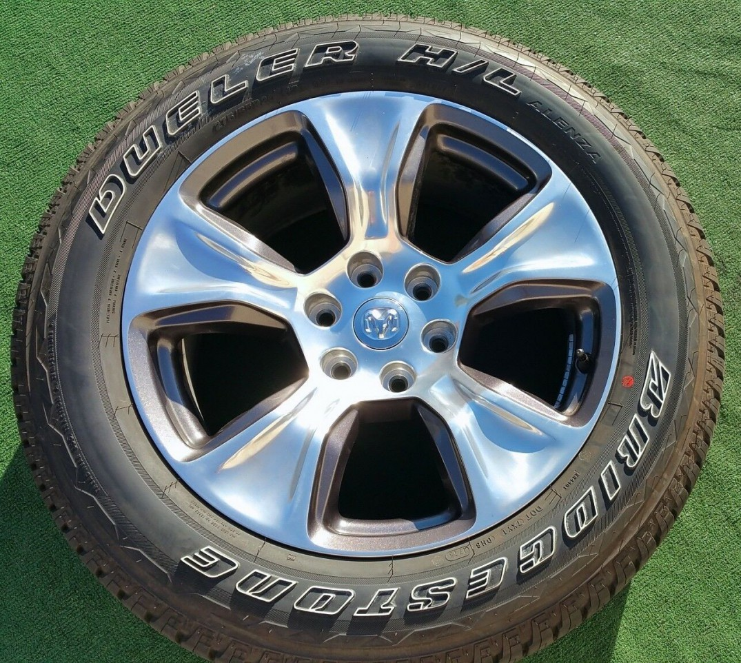 Bridgestone Ram 1500 20 Wheels Tires New 2020 Set Oem Factory Pickup Truck Polished Laramie Oem Wheels