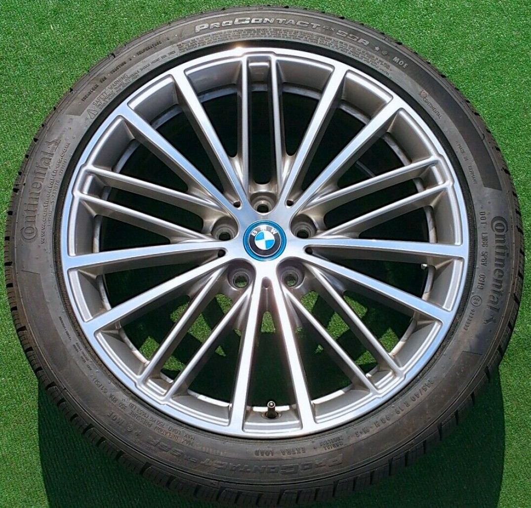 Continental Tires Factory Bmw 540i Wheels Tires Set New Oem Orbit Grey 635 530i 530e Runflat 2020 Oem Wheels